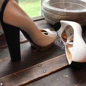 Mossimo Supply Co. Shoes - Black and white heels